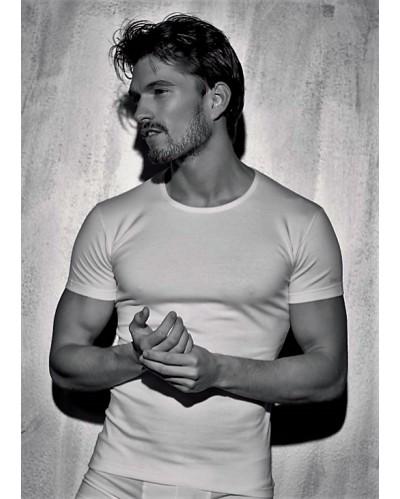 3 PACK T-shirt uomo Enrico Coveri in cotone elasticizzato scollatura a giro