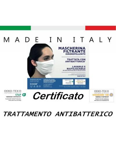 MASCHERA FILTRANTE RIUTILIZZABILE lavabile made in ITALY