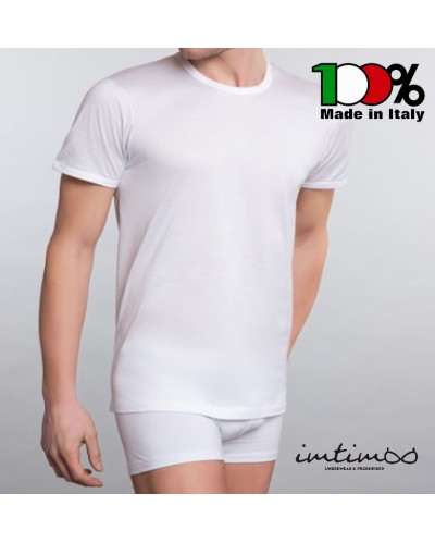 Maglia uomo mezza manica 100% cotone MAKO, 100% MADE IN ITALY QUALITA' scollo GIRO art.290
