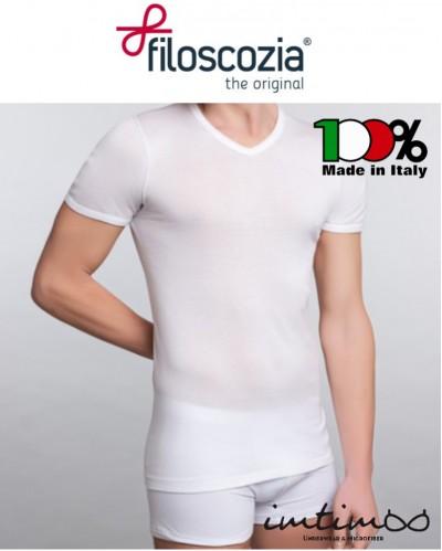 Maglia uomo mezza manica 100% FILO SCOZIA scollo V, 100% MADE IN ITALY QUALITA' SUPER art. 971